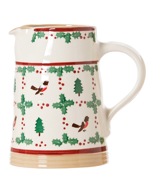 Nicholas Mosse Medium Cylinder Jug Winter Robin