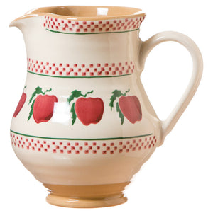 Medium jug Apple spongeware pottery by Nicholas Mosse Pottery - Ireland - Handmade Irish Craft.