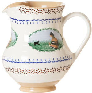 Medium Jug Cat spongeware pottery by Nicholas Mosse, Ireland - Handmade Irish Craft - nicholasmosse.com