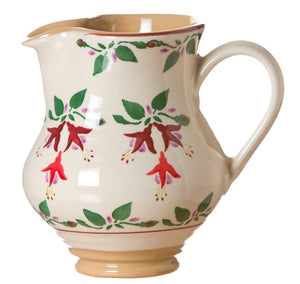 Medium jug Fuchsia spongeware pottery by Nicholas Mosse Pottery - Ireland -Handmade Irish Craft.