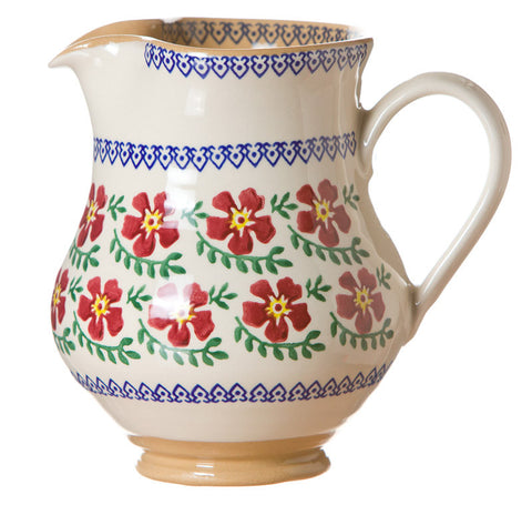 Medium jug Old Rose spongeware pottery by Nicholas Mosse Pottery - Ireland - Handmade Irish Craft.
