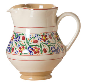Medium jug Wild Flower Meadow spongeware pottery by Nicholas Mosse Pottery - Ireland - Handmade Irish Craft.