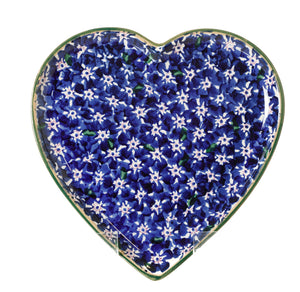 Medium Heart Plate Dark Blue Lawn