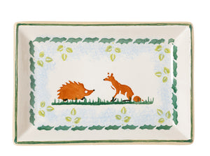 NMP 2018 Small Rectangular Serving Plate Woodland-Ireland - Handmade Irish Craft