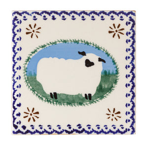 Tile Trivet Sheep