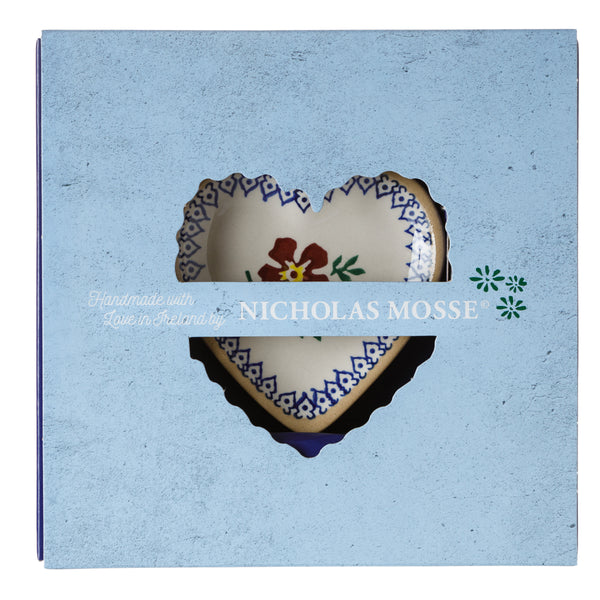 Box Set Tiny Heart Plate Old Rose