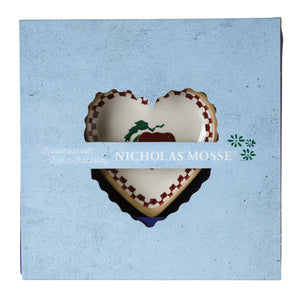 Box Set Tiny Heart Plate Apple