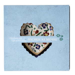 Box Set Tiny Heart Plate Wild Flower Meadow