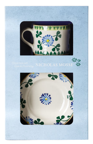 Box Set Small Mug and Tiny Plate Clover