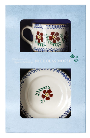 Box Set Small Mug and Tiny Plate Old Rose