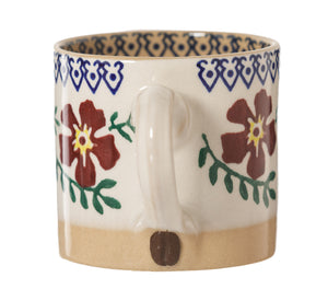 Espresso Cup Old Rose handle with coffee bean Nicholas Mosse Pottery handcrafted sponge ware Ireland