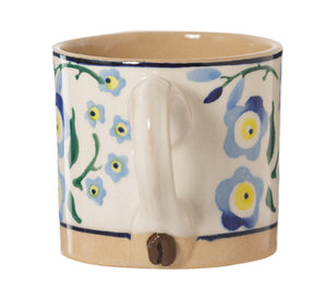 Espresso Cup handle with Coffee bean Nichoas Mosse Pottery handcrafted sponge ware Ireland