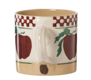 Espresso Cup Apple handle with Coffee bean Nicholas Mosse Pottery handcrafted sponge ware Ireland