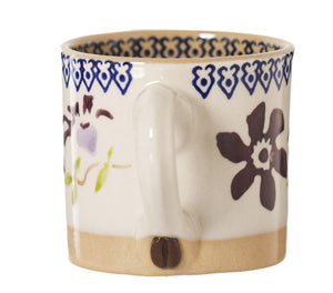 Espresso Cup handle with Coffee Bean Nicholas Mosse Pottery handcrafted sponge ware Ireland