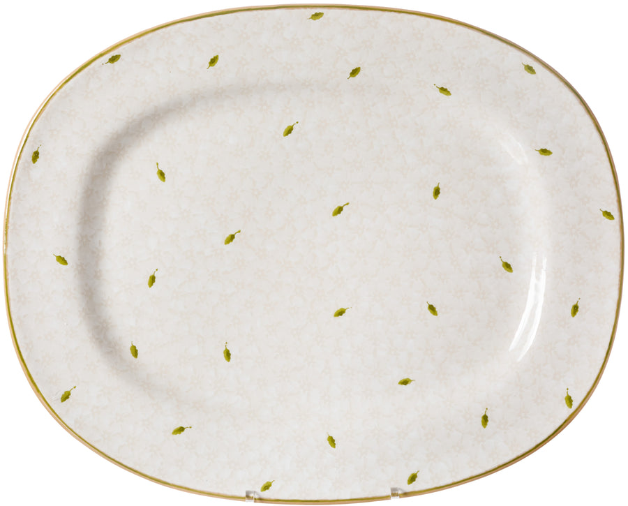 Oval Platter Lawn White