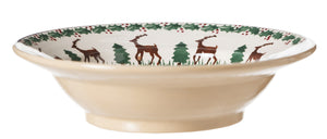 Pasta Bowl Reindeer spongeware by Nicholas Mosse Pottery - Ireland - Handmade Irish Craft