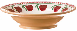 Pasta bowl Apple spongeware pottery by Nicholas Mosse Pottery - Ireland - Handmade Irish Craft.