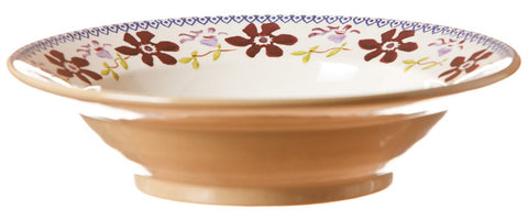 Pasta bowl Clematis spongeware pottery by Nicholas Mosse Pottery - Ireland - Handmade Irish Craft.