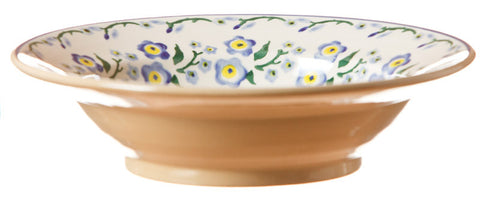 Pasta bowl Forget Me Not spongeware pottery by Nicholas Mosse Pottery - Ireland - Handmade Irish Craft.