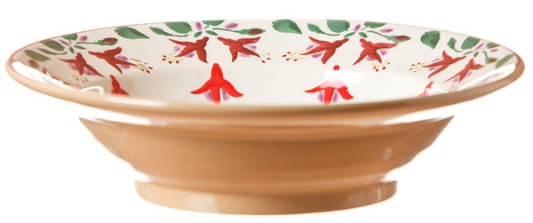 Pasta bowl Fuchsia spongeware pottery by Nicholas Mosse Pottery - Ireland - Handmade Irish Craft.