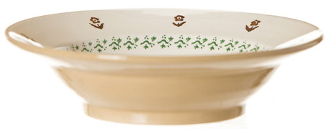 Pasta bowl Hen spongeware pottery by Nicholas Mosse Pottery - Ireland - Handmade Irish Craft.