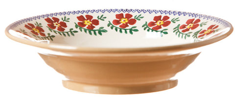 Pasta bowl Old Rose spongeware pottery by Nicholas Mosse Pottery - Ireland - Handmade Irish Craft.