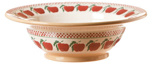 Pasta server Apple spongeware pottery by Nicholas Mosse Pottery - Ireland - Handmade Irish Craft.