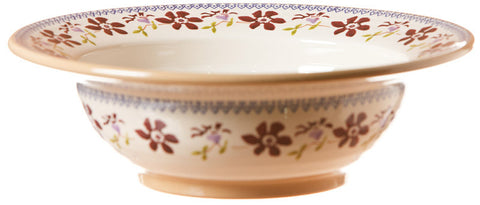 Pasta server Clematis spongeware pottery by Nicholas Mosse Pottery - Ireland - Handmade Irish Craft.
