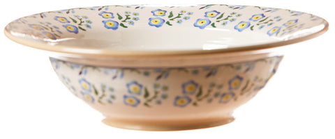 Pasta server Forget Me Not spongeware pottery by Nicholas Mosse Pottery - Ireland - Handmade Irish Craft.