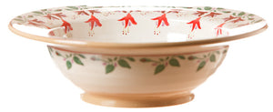Pasta server Fuchsia spongeware pottery by Nicholas Mosse Pottery - Ireland - Handmade Irish Craft.