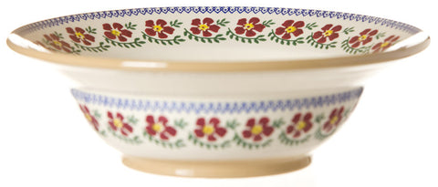 Pasta server Old Rose spongeware pottery by Nicholas Mosse Pottery - Ireland - Handmade Irish Craft.