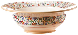Pasta server Wild Flower Meadow spongeware pottery by Nicholas Mosse Pottery - Ireland - Handmade Irish Craft.