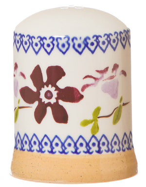 Pepper cruet Clematis spongeware pottery by Nicholas Mosse Pottery - Ireland - Handmade Irish Craft.