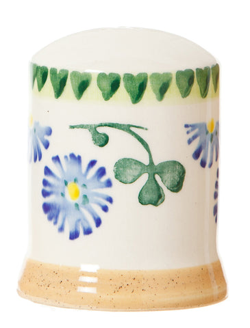 Pepper cruet Clover spongeware pottery by Nicholas Mosse Pottery - Ireland - Handmade Irish Craft