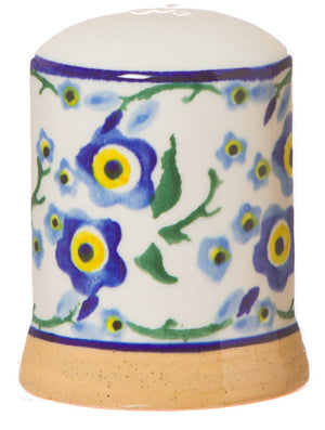 Pepper cruet Forget Me Not spongeware pottery by Nicholas Mosse Pottery - Ireland - Handmade Irish Craft.