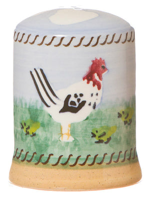 Pepper cruet Hen spongeware pottery by Nicholas Mosse Pottery - Ireland - Handmade Irish Craft.