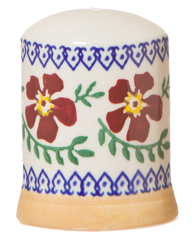 Pepper cruet Old Rose spongeware pottery by Nicholas Mosse Pottery - Ireland - Handmade Irish Craft.