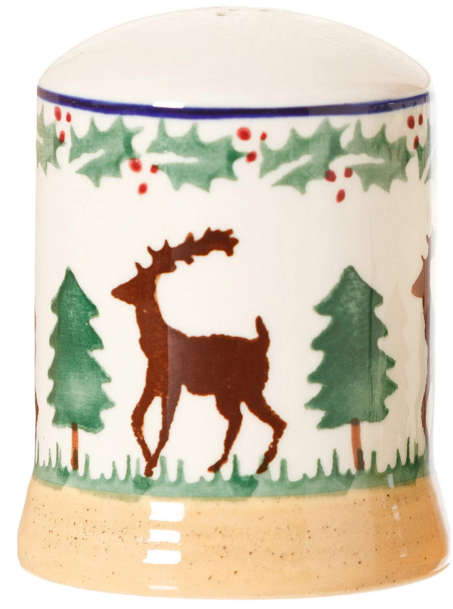 Pepper cruet Reindeer spongeware pottery by Nicholas Mosse Pottery - Ireland - Handmade Irish Craft