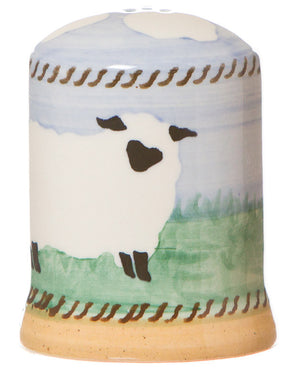 Pepper cruet Sheep spongeware pottery by Nicholas Mosse Pottery - Ireland - Handmade Irish Craft.