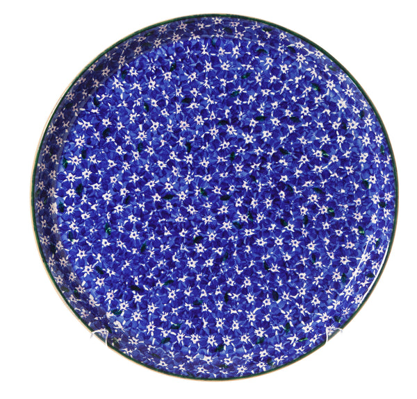 Presentation Platter Lawn Dark Blue spongeware pottery by Nicholas Mosse Pottery - Ireland - Handmade Irish Craft