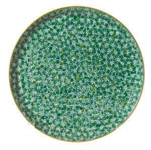 Presentation Platter Lawn Green spongeware pottery by Nicholas Mosse Pottery - Ireland - Handmade Irish Craft
