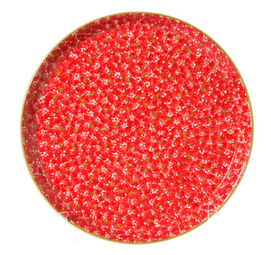 Presentation Platter Lawn Red spongeware pottery by Nicholas Mosse Pottery - Ireland - Handmade Irish Craft