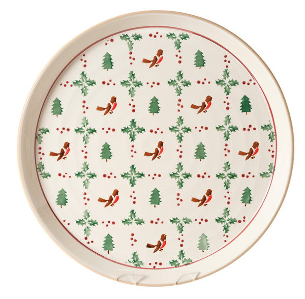 PRESENTATION PLATTER WINTER ROBIN