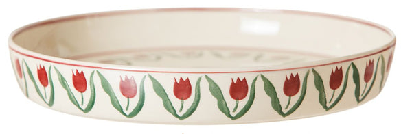 QUICHE DISH RED TULIP