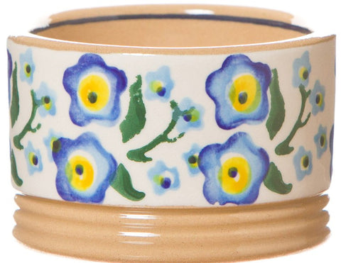 Ramekin Forget Me Not spongeware pottery by Nicholas Mosse Pottery - Ireland - Handmade Irish Craft.