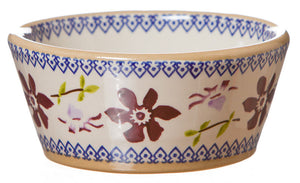 Reversible candlestick Clematis spongeware pottery by Nicholas Mosse Pottery - Ireland - Handmade Irish Craft.