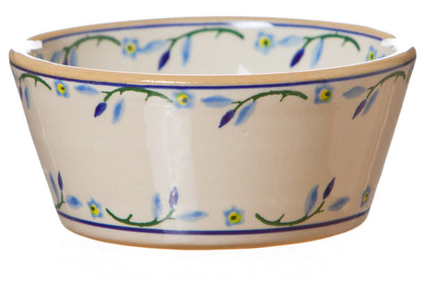 Reversible candlestick Forget Me Not spongeware pottery by Nicholas Mosse Pottery - Ireland - Handmade Irish Craft.