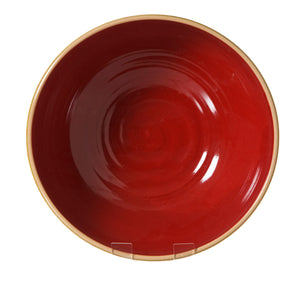 Salad Bowl 2 Lawn Red spongeware pottery by Nicholas Mosse Pottery - Ireland - Handmade Irish Craft