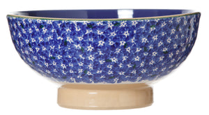 Salad Bowl Lawn Dark Blue spongeware pottery by Nicholas Mosse Pottery - Ireland - Handmade Irish Craft