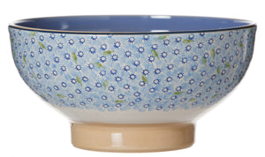Salad Bowl Lawn Light Blue spongeware pottery by Nicholas Mosse Pottery - Ireland - Handmade Irish Craft